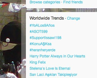#supportIssawi trending on February 8