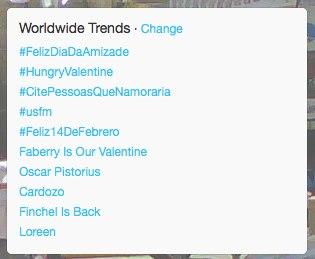 #HungryValentine trending on February 14