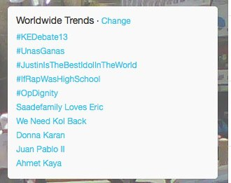 #OpDignity trending on February 12
