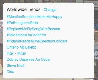 #PalHungerIntifada trending on February 24